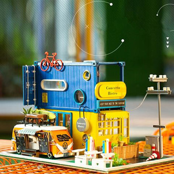 New Wooden Diy Doll House Casa Diy Miniature Dollhouse With Furniture Birthday  gifts Toys for children