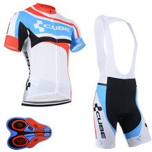 Ropa Ciclismo 2017 cube pro Cycling Jersey Cycling Clothing Bike Clothes breathable MTB bicycle Shirts Sportwear bib shorts I16