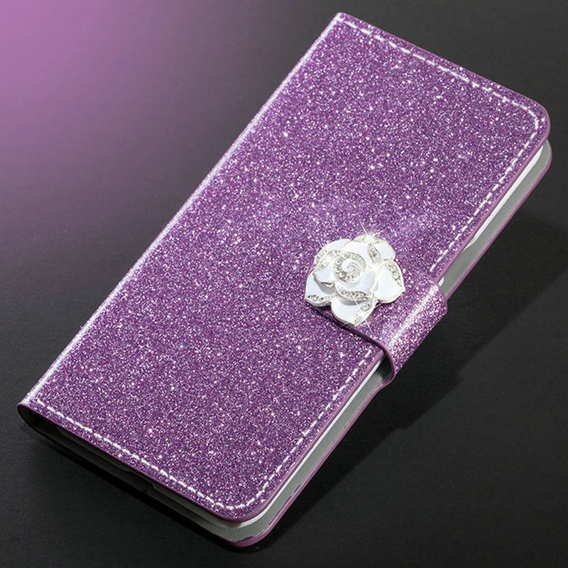 Image 4 - New Fashion Luxury Glitter Diamond Leather Case Xiaomi Redmi Note 5 Pro Plus 5A Wallet Original Flip Phone Cover-in Half-wrapped Cases from Cellphones & Telecommunications