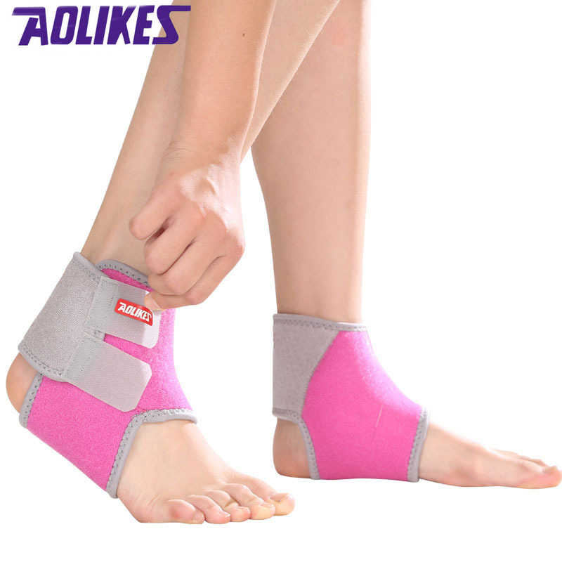 AOLIKES 1 Pair Kids Ankle Strap For Cycling Running Gym Children Sport Ankle Brace Support Guard Protector Boy Girl tobillera