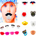 Silicone Funny Baby Pacifier Dummy Nipple chupeta Toddler Pacy Orthodontic Teat Infant Pacifiers for baby Gift 1PC Free Shipping