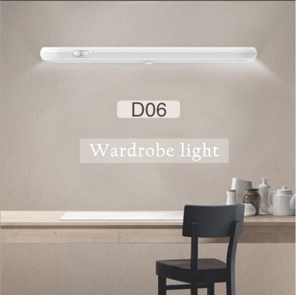 LED capteur infrarouge à Induction Lamp20 capteur de LED de luz inteligente para bajo armario imán batería PIR capteur de movimiento luz pa
