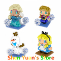 Elsa Anna Olaf Cinderella Assembly Toy 3inch 7.5cm Building Block Decoration Action Figure Wholesale