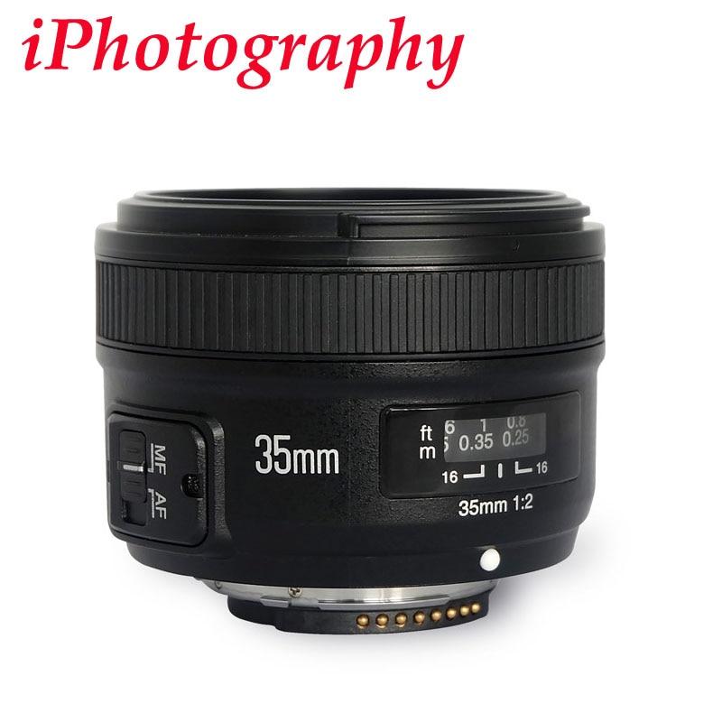 YONGNUO yn35mm F2.0 F2n объектив, yn50mm объектив для Nikon F крепление D7100 D3200 D3300 D3100 D5100 D90 DSLR Камера, для Canon DSLR Камера