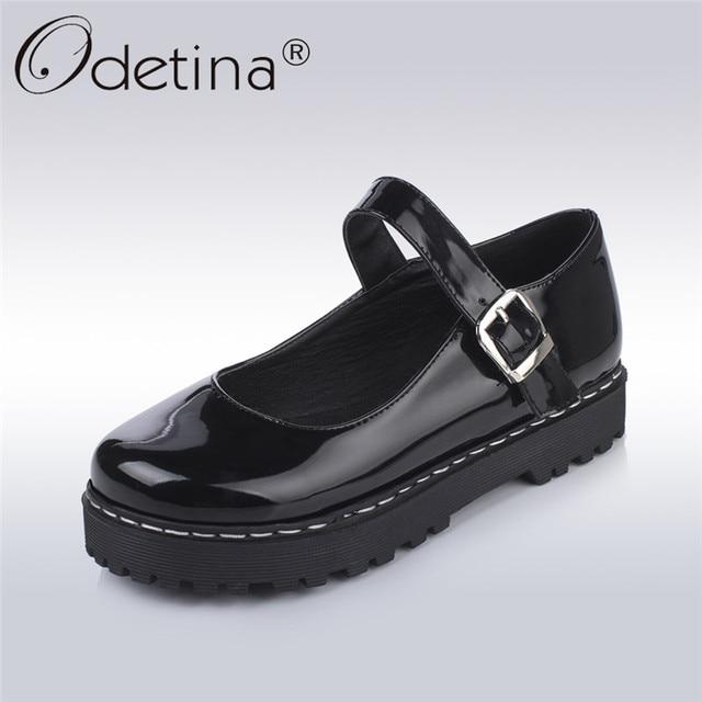 Odetina Flat 2018 New Fashion Platform Mary Jane scarpe Donna Flat Odetina scarpe   7c9328