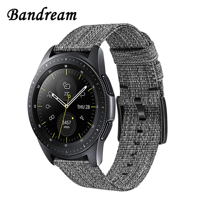 Canvas Nylon Watchband 20mm for Samsung Galaxy Watch 42mm SM-R800/R815 Quick Rel