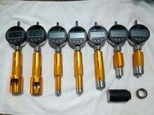 Nouveau! outil de mesure de valve de buse d'injecteur à rampe commune de type mise à niveau avec jauge micrométrique 7 pièces, outil de réparation d'injecteur à rampe commune