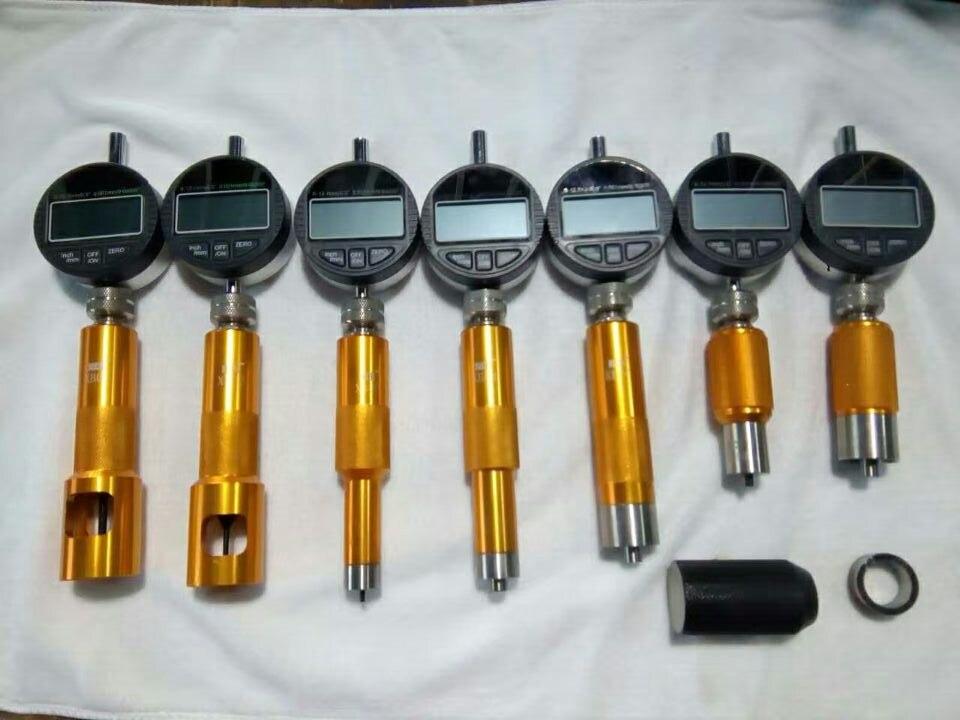 Nuovo! tipo di aggiornamento ugello di iniezione common rail valvola strumento di misura con 7 PCS micrometro gauge, iniettori common rail strumento di riparazione