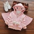 2016 meninas do bebê para o inverno e outono roupa das Crianças em crianças's de impressão novos babys menina bonito casaco docemente roupas