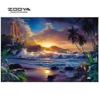 ZOOYA Diamond Embroidery 5D DIY Diamond Painting Seaside Scenery Diamond Painting Rhinestone Cross Stitch Decoration CJ317