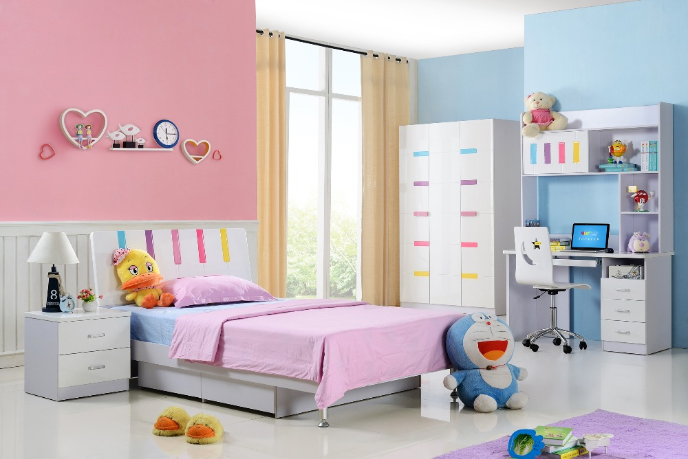 Kids Furniture Moveis 2018 Meuble Enfant Kids Table And Chair Loft Bed Set Top Fashion Wood Child Desk Hot Childrens Bunk Beds