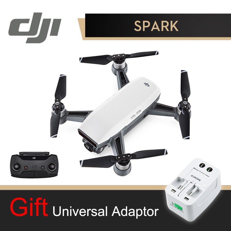 DJI Spark Drone con cámara con el regulador blanco 1080 p HD Cámara Drones Quadrotor RC FPV Quadcopter chispas Original