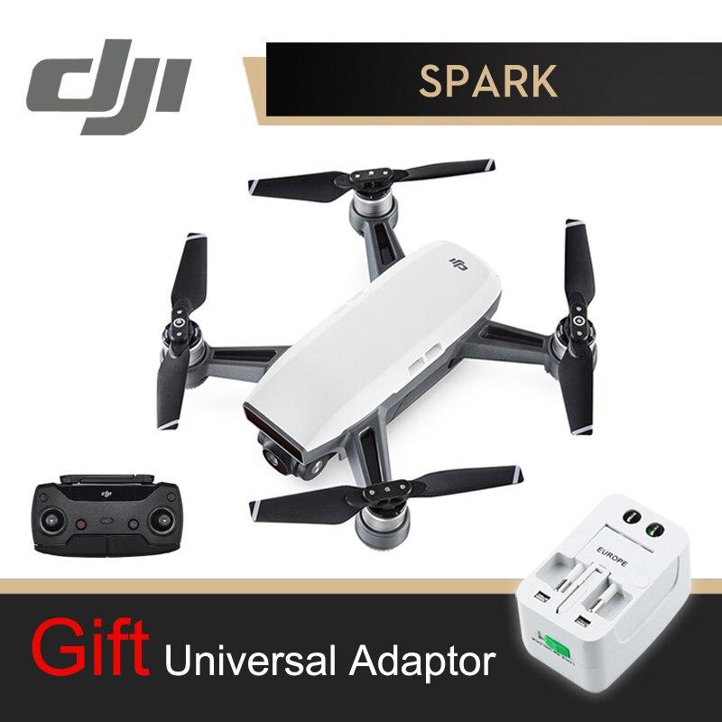 DJI Étincelle Caméra Drone Avec Le Contrôleur Blanc 1080 p HD Caméra Drones Quadrirotor RC FPV Quadcopter Étincelles D'origine