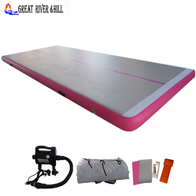 cheap power tumbling mat fitness air mat inflatable air track jumping air flooring with free pump 7m x 1.8m x 0.15m