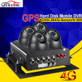CCTV Surveillance System 4CH HDD 4G Real Time Remote Monitoring Police Bus Vehicle Mobile Dvr Video Recorder Kits With I/O Alarm
