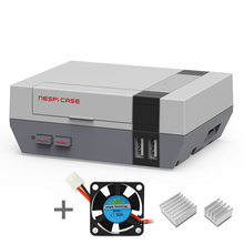 Elecrow 3 In 1 NESPi Case for Raspberry Pi 3 2 B+ by Old Skool Tools NES Style Plastic RPI 3 Case with Cooling Fan Heat Sinks