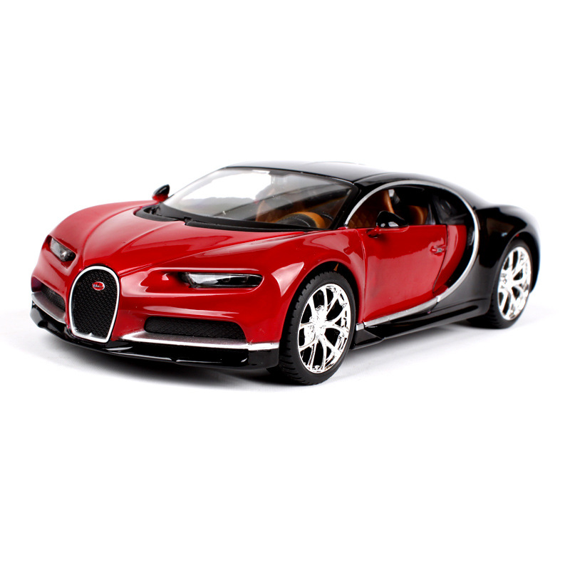 1:24 Luxury Sports Car Model Chiron Model Alloy Static Car Model Toys Limited Edition Locomotive Decoration Gift For Boys 1 18 sports car model alloy static cars model toys hardcover edition locomotive office decoration business gift