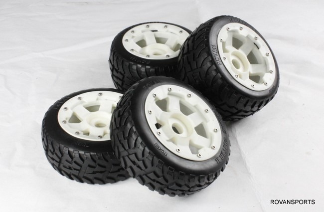5B baja whole road tires set  tyre set with nylon hub  wheel 85028-1 for HPI KM Rovan front sand buster tyres tire set with nylon wheel 2pcs for baja 5b hpi km rovan