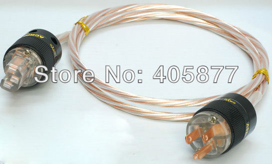купить Hi-End Silver Plated Audio Power cable For Tube amplifier CD Player 1M недорого