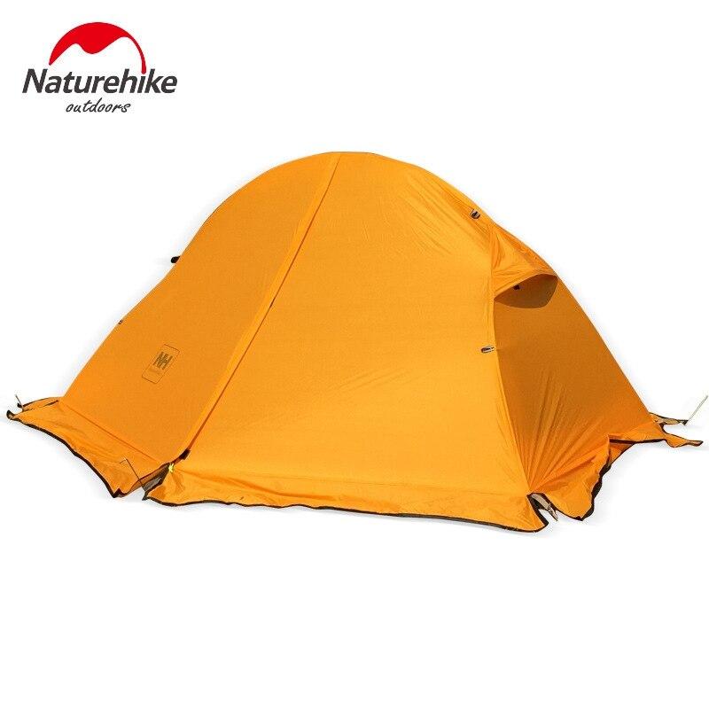 1.3 kg Naturehike Tente 20D Silicone Tissu Ultra-Léger 1 Personne Double Couches En Aluminium Tige Randonnée Tente 4 Saison Avec Camping tapis