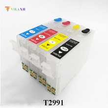 29 29XL Refillable Ink Cartridge For Epson T2991 - T2994 Expression XP-235 XP-332 XP-335 XP-432 XP-435 Printer One Time Chip