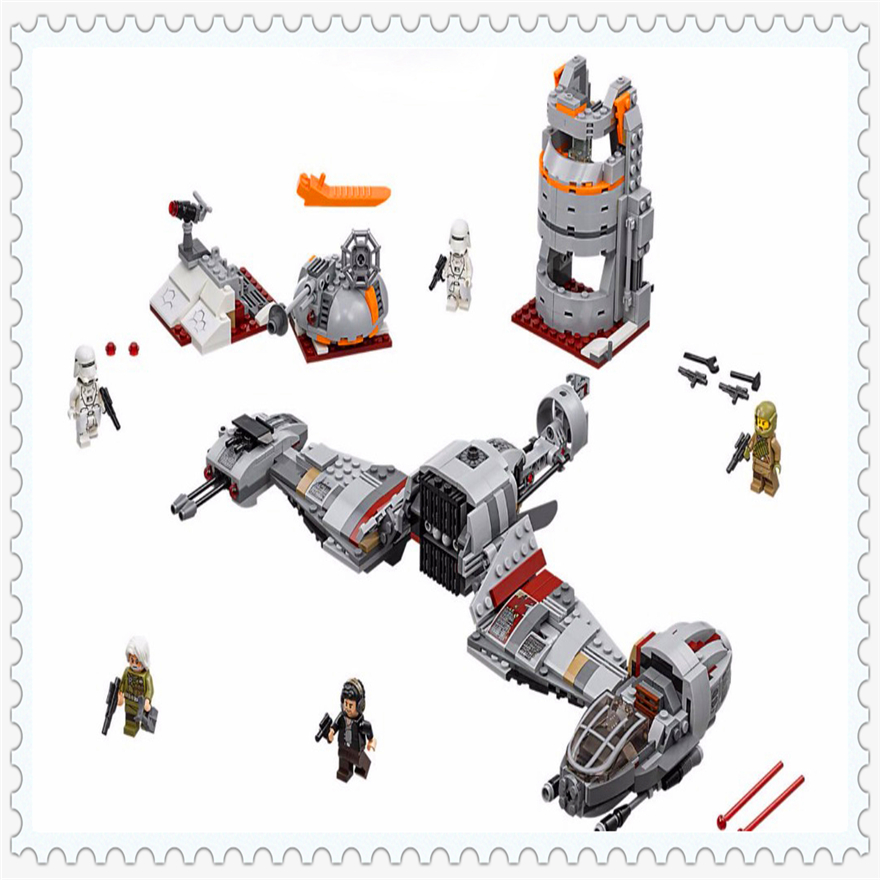 836Pcs Star Wars Defense Aircraft Model Building Block Toys LEPIN 05141 Figure Gift For Children Compatible Legoe 75202 sluban 0372 block compatible legoe aviation city aircraft repair shop model 596pcs educational building toys for children