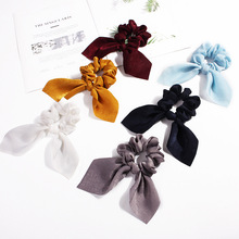 Sale Women Rubber Bands Tiara Satin Ribbon Bow Hair Band Rope Scrunchie Ponytail Holder Elastic Gum for Hair Accessories 10 pcs elastic hair rubber bands rope scrunchie ponytail holder accessories hair band freeshipping