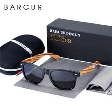 Barcur ナチュラルゼブラウッドサングラス偏光サングラス木製の長方形ミラーレンズ駆動 UV400 男性女性眼鏡