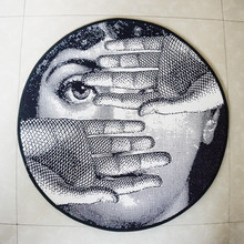Fashion Round Rugs Living Room Decor Doormat Sexy Fornasetti Carpets Cartoon Door Floor Mat for Bedroom Anti-slip Carpet