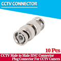 10pcs/lot CCTV Accessories BNC Male to Male CCTV Security Coax Coupler Video BNC Connector Adapter RF Convertor