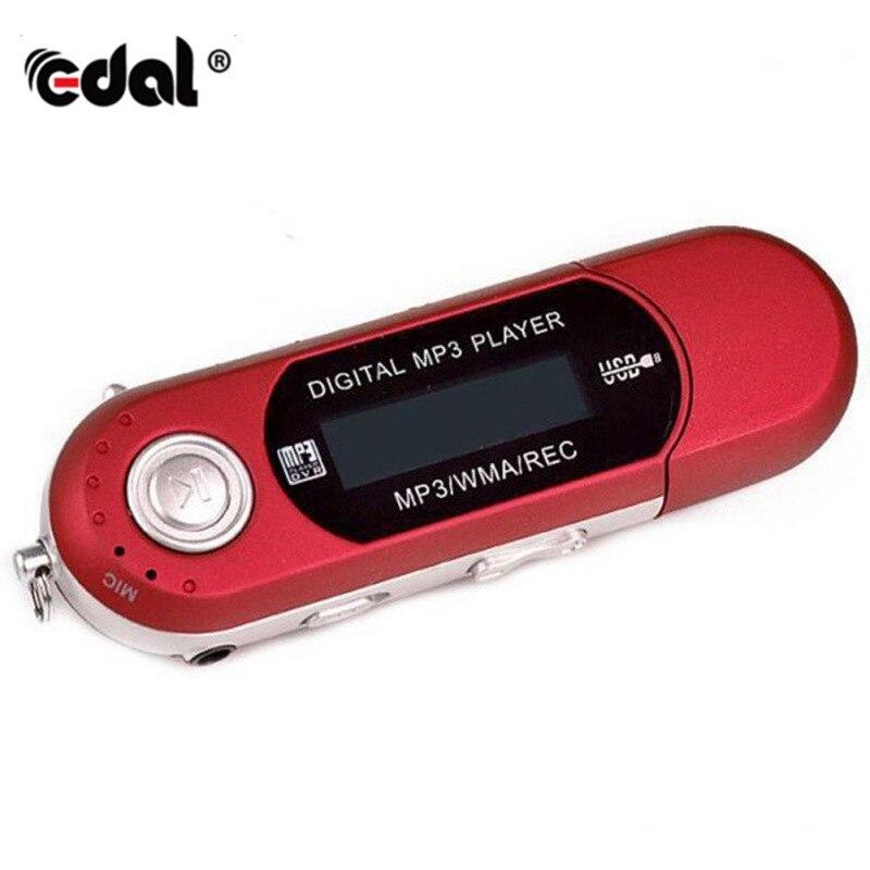 Portable USB Flash MP3 Player LCD Screen Support Flash 32GB TF Card Slot Digital Mp3 Music Player FM Radio