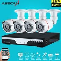 New 4ch 1920p Full Hd Surveillance CCTV DVR H 264 Video Recorder AHD Outdoor Mini Bullet