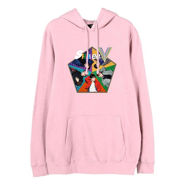 New arrival shinee 5th five album member printing pullover hoodies kpop fashion fleece sweatshirt for autumn winter