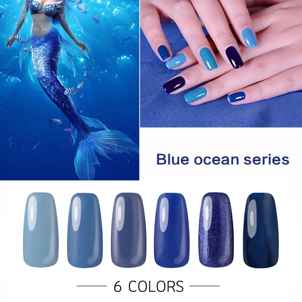 10ml Dark Blue Series UV Gel Nail Polish Long Lasting Soak off LED ...