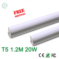 T5 20W Tubes Led 1200mm SMD 2835 Super Brightness Led Bulbs Lights Fluorescent Tubes AC100 265V