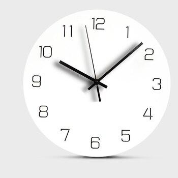 Europa Holz Wanduhr Mute Dekorative Digitale Uhr für Wohnzimmer Runde  Hängen Wanduhren Modern Design Home Decor 12 zoll