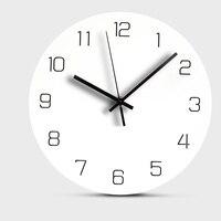 Europa Relógio de Parede de Madeira Mudo Decorativo Digital Relógio para Sala de estar Pendurado Rodada Relógios de Parede de Decoração Para Casa Design Moderno 12 polegada|Rel. parede|   -