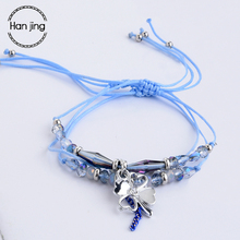 Fashion Boho Heart Leaf Crystal Beads Charm Bracelets 3 Pcs/Set For Women Express love Gift Jewelry Rope Bracelet Femme Pulseras
