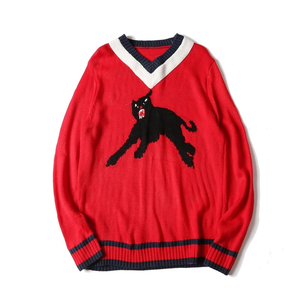 font b Men s b font Cartoon Animal Print font b Sweaters b font Hit
