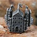 1 pc! Mais novo escola de magia anel aço inoxidável 316L venda quente fresco construção anel
