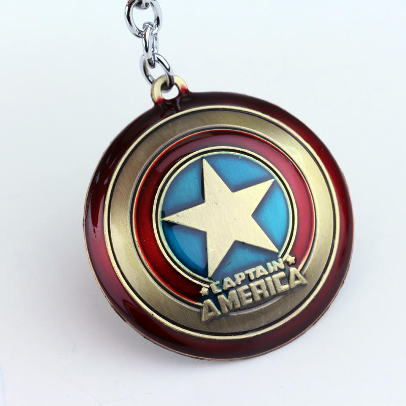 Avengers Infinity War Character Captain America Shield Superhero Star Shield Pendant Keychain Car Key Chain Accessories in Key Chains from Jewelry Accessories