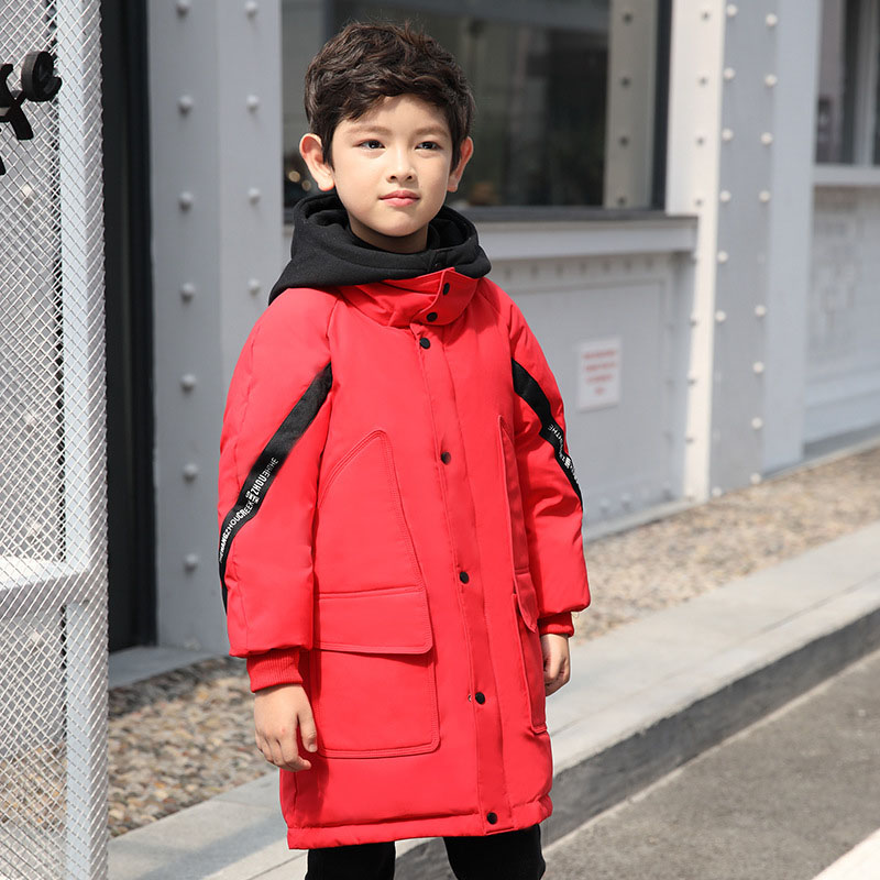 Children Down Jacket Boys 2018 New Winter Thickened Long Coat For Boys Outerwear Winter Jackets Coats 6 7 8 9 10 11 12 13 14 fashion girls winter coat long down jacket for girl long parkas 6 7 8 9 10 12 13 14 children zipper outerwear winter jackets