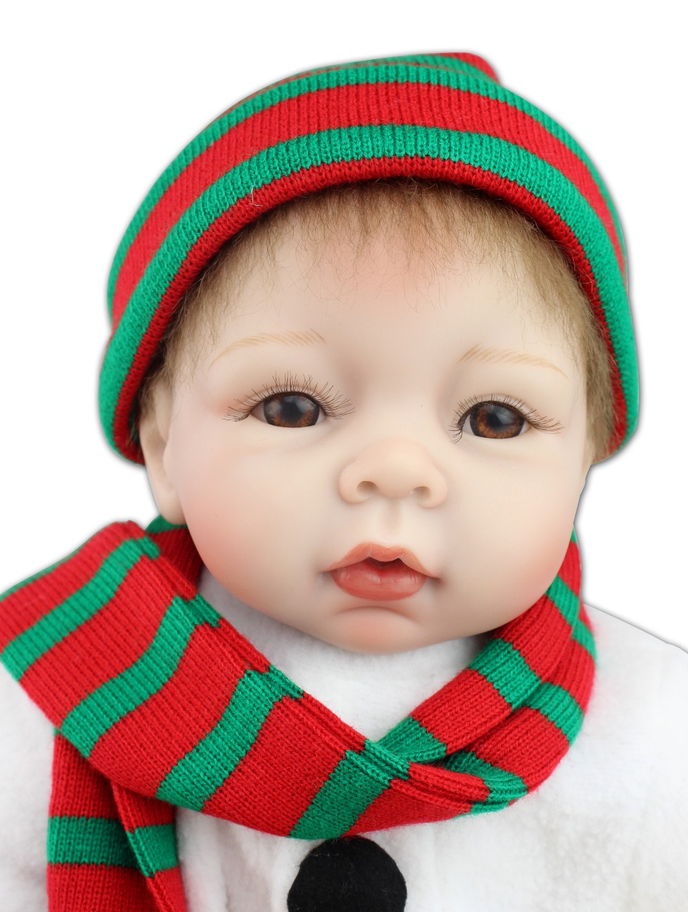 Best quality Christmas gift doll  22inch reborn baby doll lifelike soft silicone vinyl real gentle touch new fashion design reborn toddler doll rooted hair soft silicone vinyl real gentle touch 28inches fashion gift for birthday