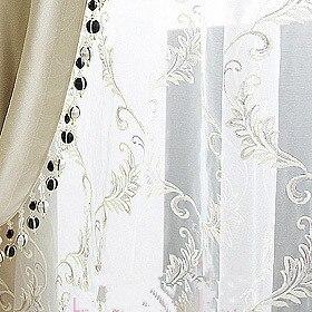 Mode phéni brodé rideau fenêtre criblage balcon qualité blanc broderie shalian produit fini ombre tissu
