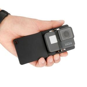 Image 4 - FUNSNAP Aluminum Switch Mount Camera Stabilizer for GoPro Hero 6/5/4 Motion Camera Adapter Plate Handheld Gimbal Accessory