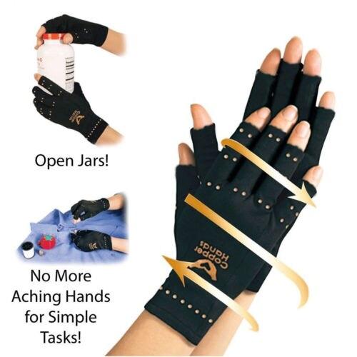 Come si è visto in tv artrite guanti in rame a compressione