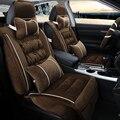 3D Pelúcia Inverno Almofada Tampa de Assento Do Carro Para Hyundai i30 Veloster Sonata Elantra Santa Fe Tucson ix35 ix25 2016 Solaris sotaque