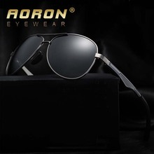 AORON Brand Designer Fashion Unisex Sun Glasses Polarized Coating Mirror Sunglasses Round Male Eyewear For Men/Women A161