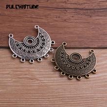 Necklace Charm Jewelry Porous-Connector Women 2PCS 39--43mm Two-Color Fashion