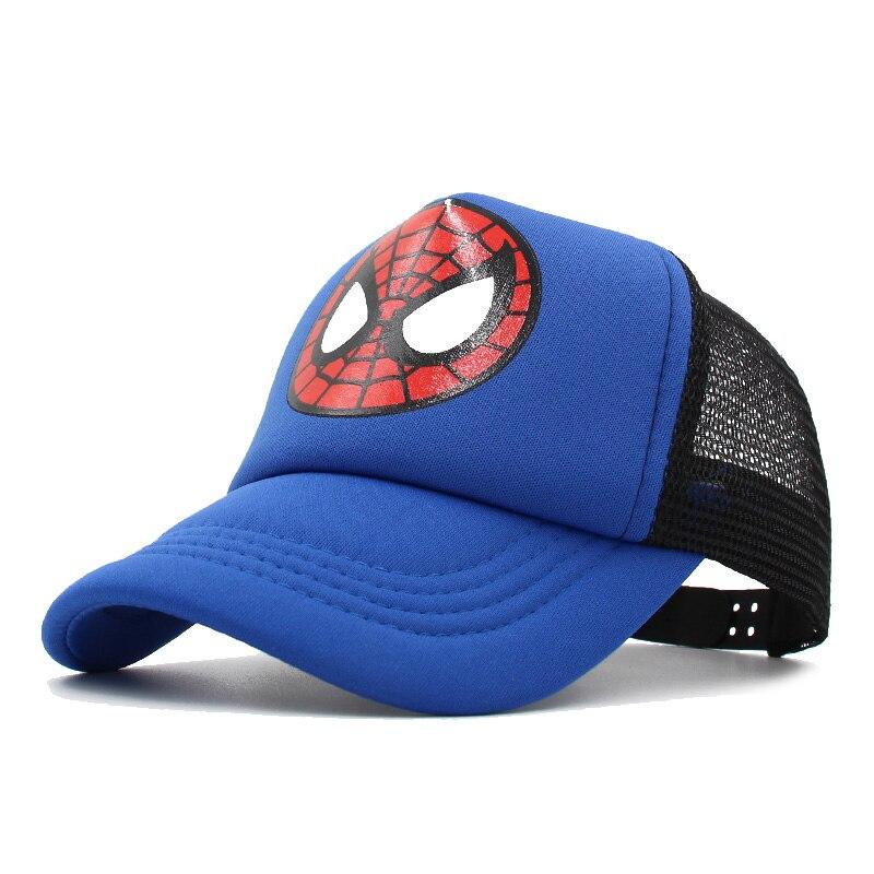 Children's Baseball Cap Boys Girls Cartoon Captain America Snapback Adjustable Kids Cap Hip Hop Hat Summer Sun Mesh Cap Gorras